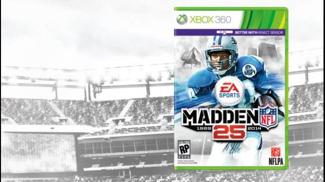 Barry Sanders Lands Cover Of Madden NFL 25