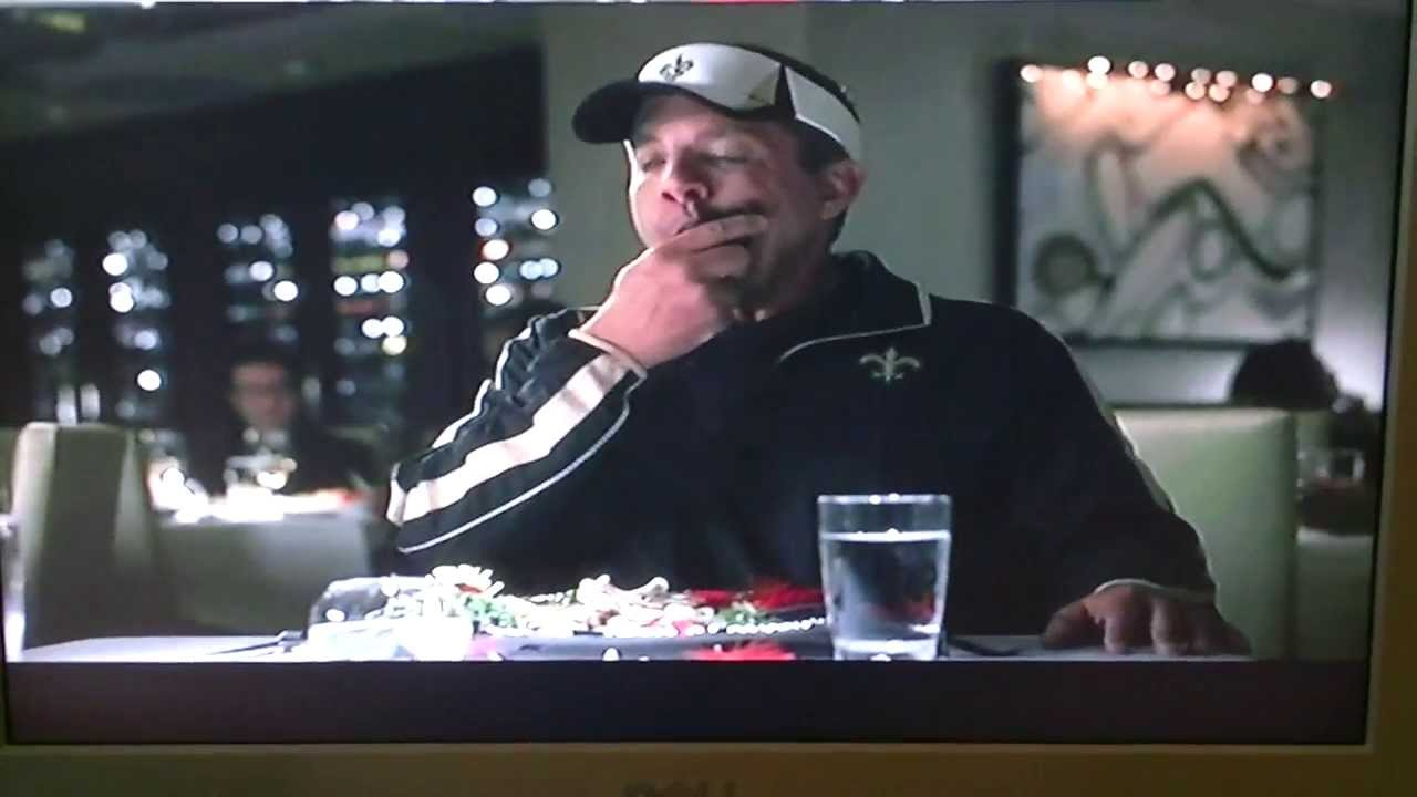 Saints Coach Orders Roasted Falcon In Commercial